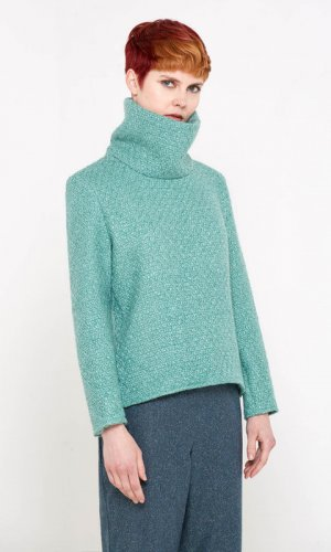 Bo Carter Roll Neck Jade Green Jumper