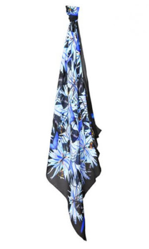 Vibrant Blue Luxury Silk Scarf by Julia McLearon