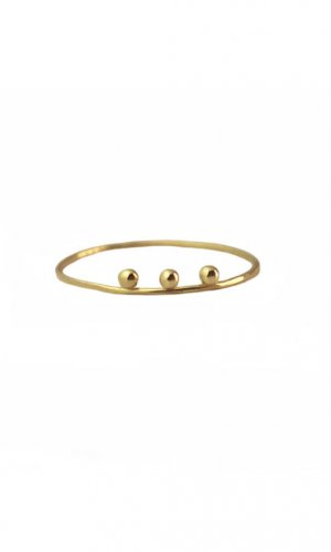 Gold Ring With Three Sphere Detail By Irena Chmura