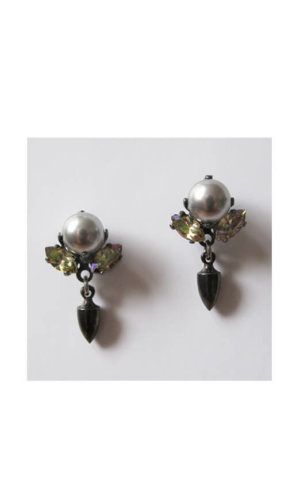 Handcrafted Swarovski Stud Earrings By Heiter Couture