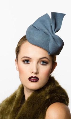 Blue Little Dior Hat by Karen Morris