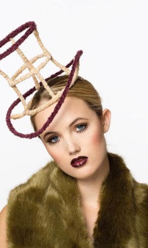 Wool Wired Top Hat by Karen Morris