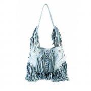 Light Blue Infinity Tassel Bag By Lebulga