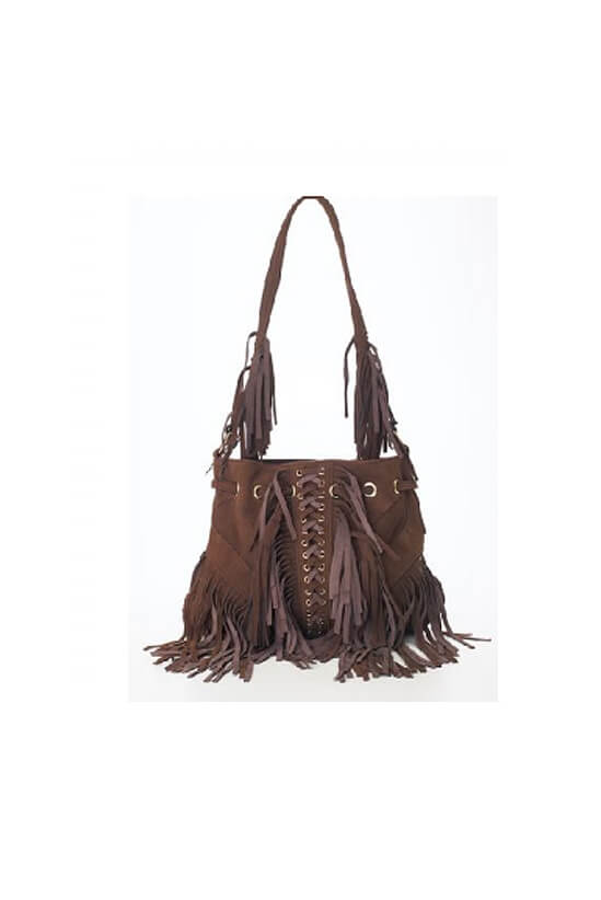 Brown Infinity Tassel Bag By Lebulga