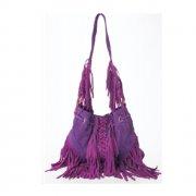 Purple Infinity Tassel Bag By Lebulga