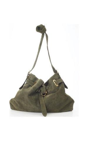 Green Messenger Cross Body Bag By Lebulga