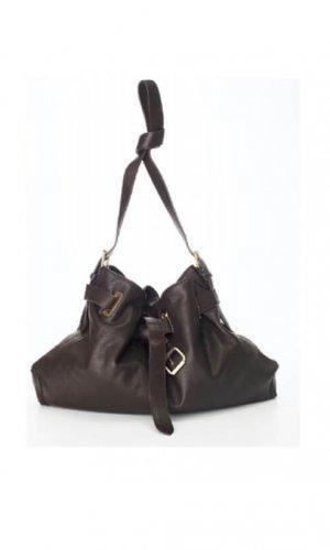Brown Messenger Cross Body Bag By Lebulga