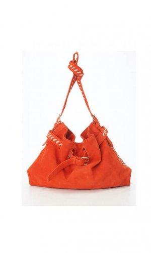 Orange Messenger Cross Body Bag By Lebulga