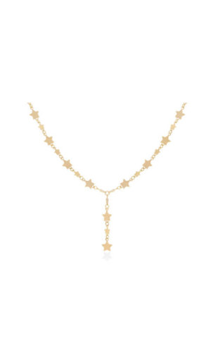 18 Carat Gold Necklace With Stars By Lily Flo