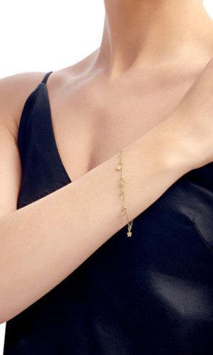18 Carat Gold Star Bracelet By Lily Flo
