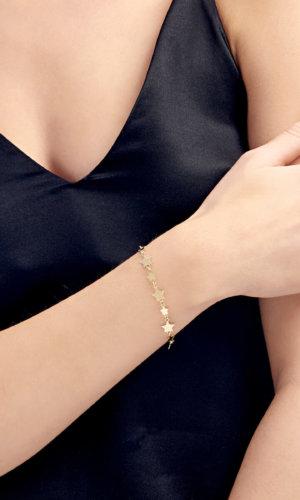18K Gold Filled Star Bracelet By Lily Flo