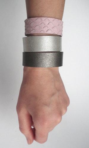 Set Of Leather Bracelets By Mikasha