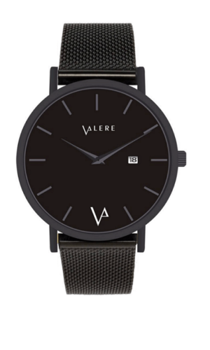 Novus Edition Matte Black Watch By Valere London