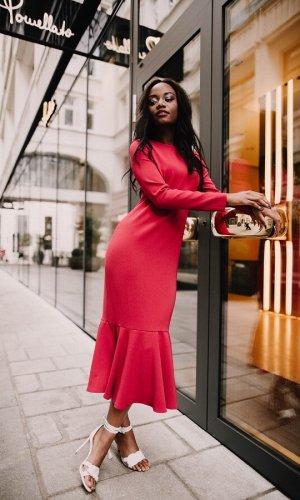 Inessa Red Dress By Anna Netter