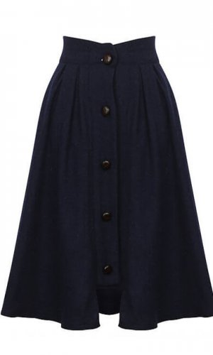 Navy Riding Skirt By A-MM-E