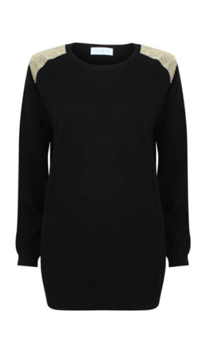 Black Cashmere Jumper By A-MM-E