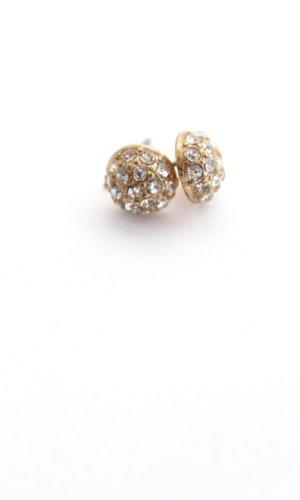 Tiffany Studs Crystal and Sage