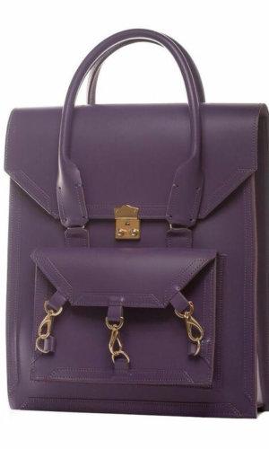 Medium Leather Bag in Purple