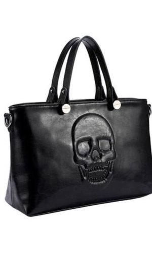Vegan Skull Leather Handbag