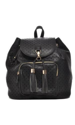 Mechaly Black Vegan Leather Backpack