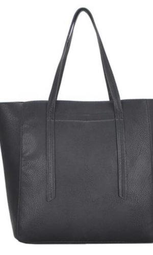 black vegan tote bag
