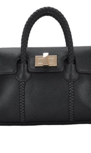 Black Vegan Leather Crossbody Handbag