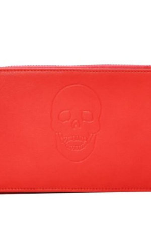 Red Vegan Leather Wallet