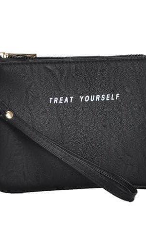 Mechally Black Vegan Leather Wallet