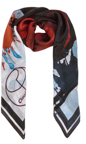 Graffiti Rose Silk Scarf