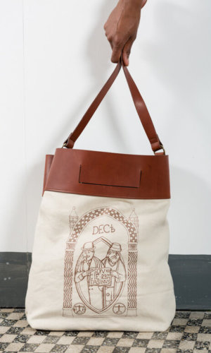 Icona Long Canvas Bag