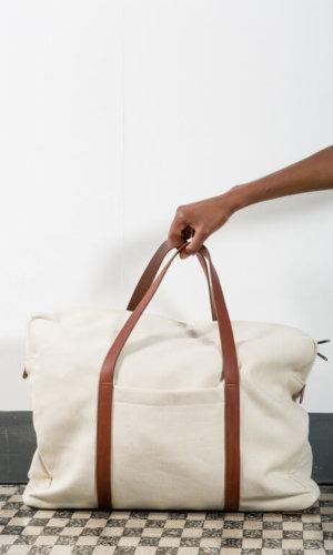 Sustainable Canvas Luggage Bag