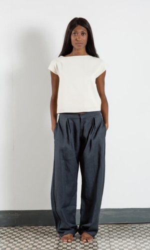 Pleated Dark Grey Trousers