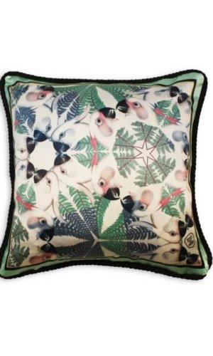 Green Parrots Cushion