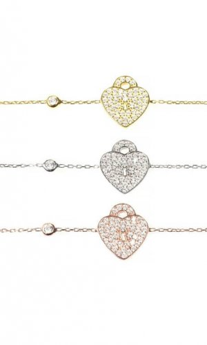 Key To My Heart Crystal Bracelet