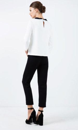 Black Pocket Detail Trousers
