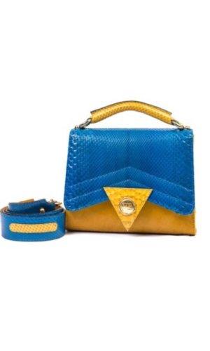 Blue Python Satchel Mini Bag