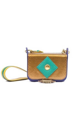 Gold Python Mini Bag
