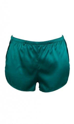 Alloro Green Silk Shorts