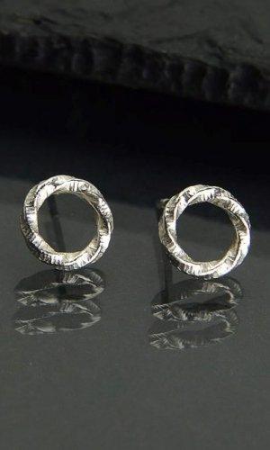 Silver Small Circles Earrings