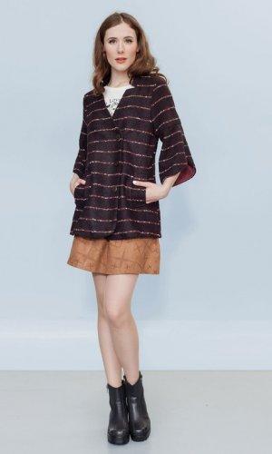 Gigi's Gentleman Burgundy Kimono Blazer