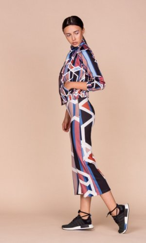 Geometric Print Culotte Trousers