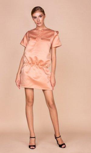 Oversized Nude Mini Dress