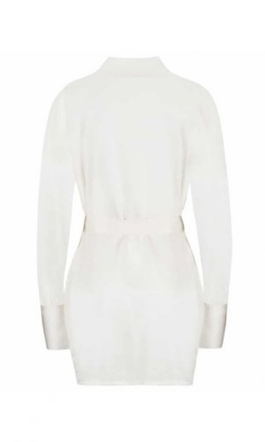 Sohpia White Lace Silk Robe - Made To Order