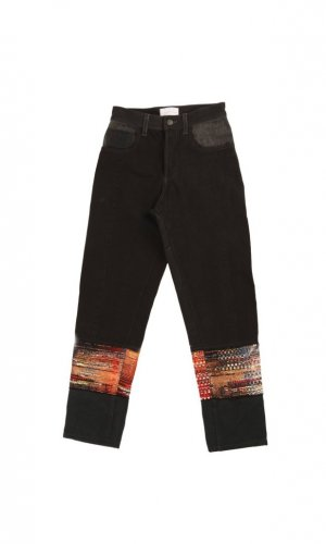 Black and Rose Gold High Waist Jeans