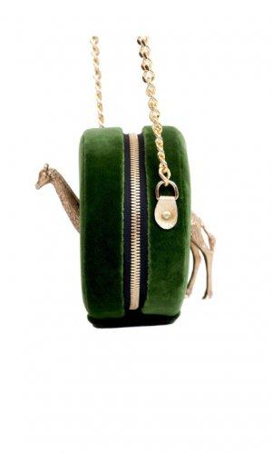 Jirafa Green Velvet Bag