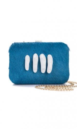 Mano Blue Clutch Bag
