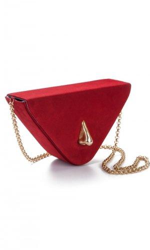 Nariz Red Suede Bag