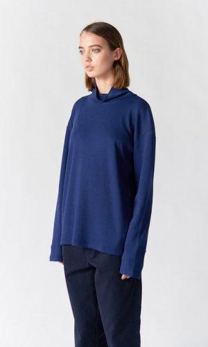Korey Long Sleeve Blue Turtleneck