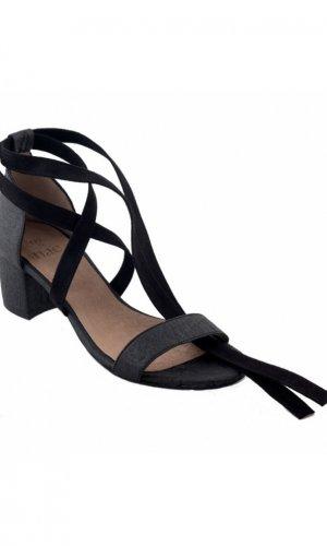 Clau Black Strappy Sandals