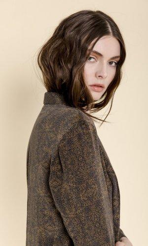 Alani Printed Silk Jacket